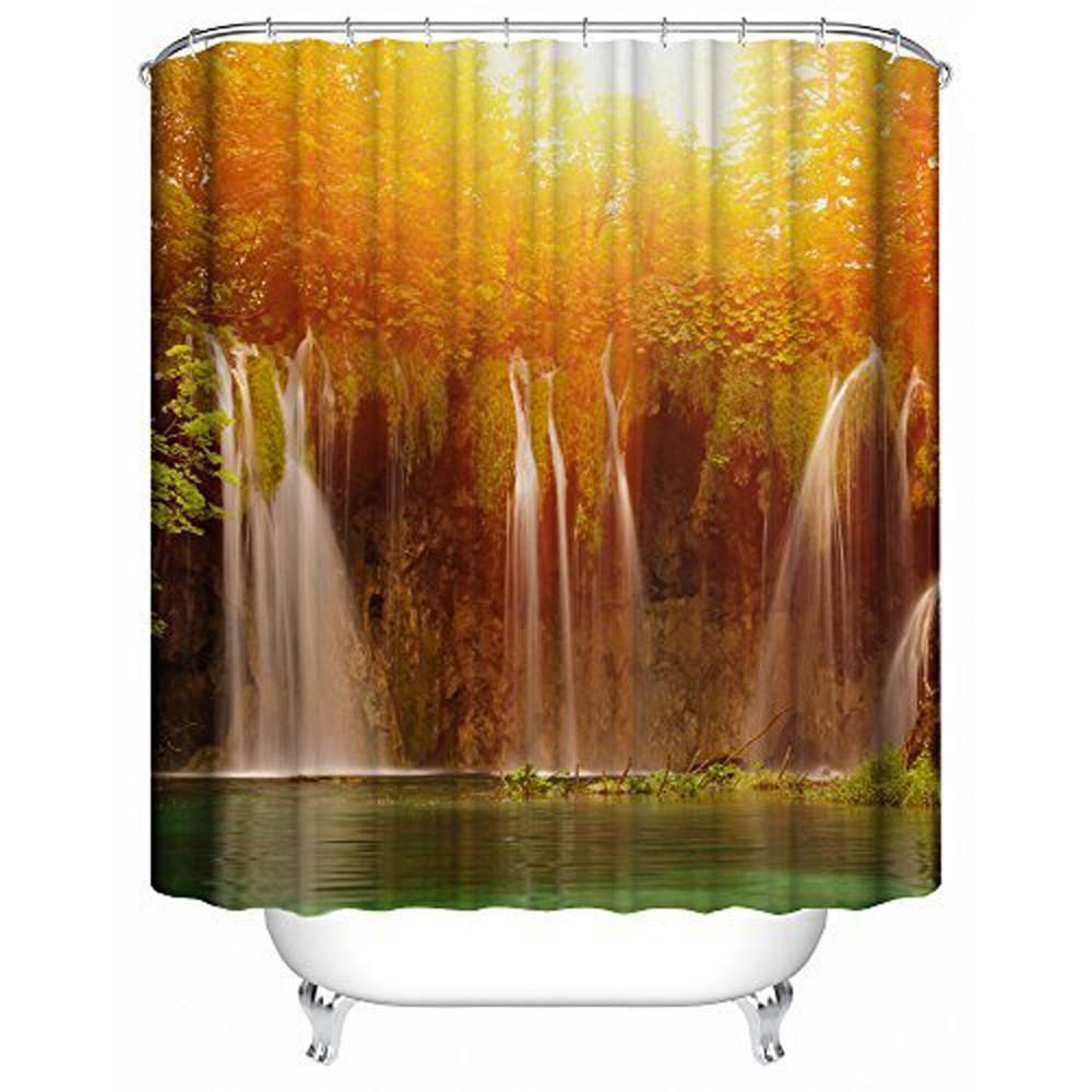 3D Waterproof Bathroom Shower Curtain shower curtains bathroom curtain