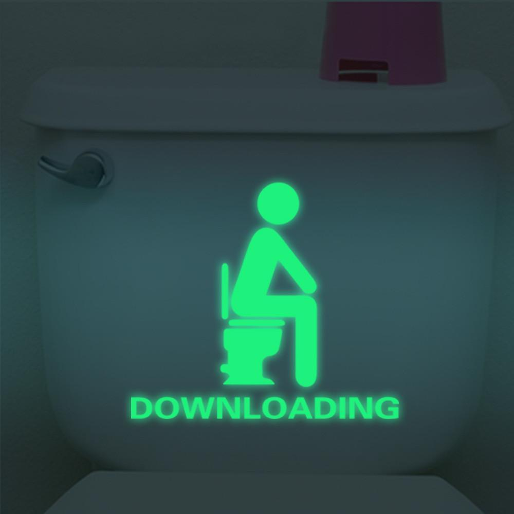 Bathroom Luminous Sticker Toilet Fluorescent Wall Sticker Removable Sticker glow in the dark