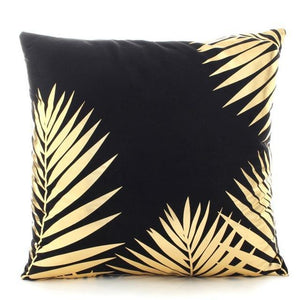 Luxurious black and gold cushion covers