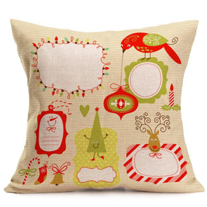 Christmas Decoration Festival Pillow Case Cushion Cover