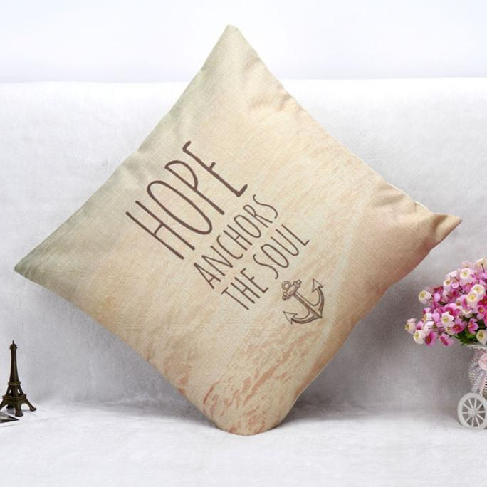 Letters Sofa Bed Home Decoration Festival Pillow Case Cushion Cover