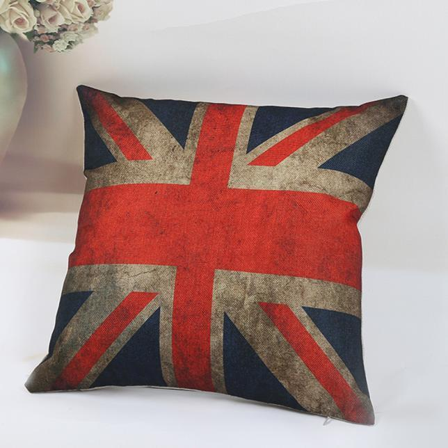 National FlagPillow Case Sofa Waist Throw Cushion Cover Home Decor