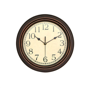 1 PC 12-Inch Round Classic Clock Non Ticking Decorative Wall Clock