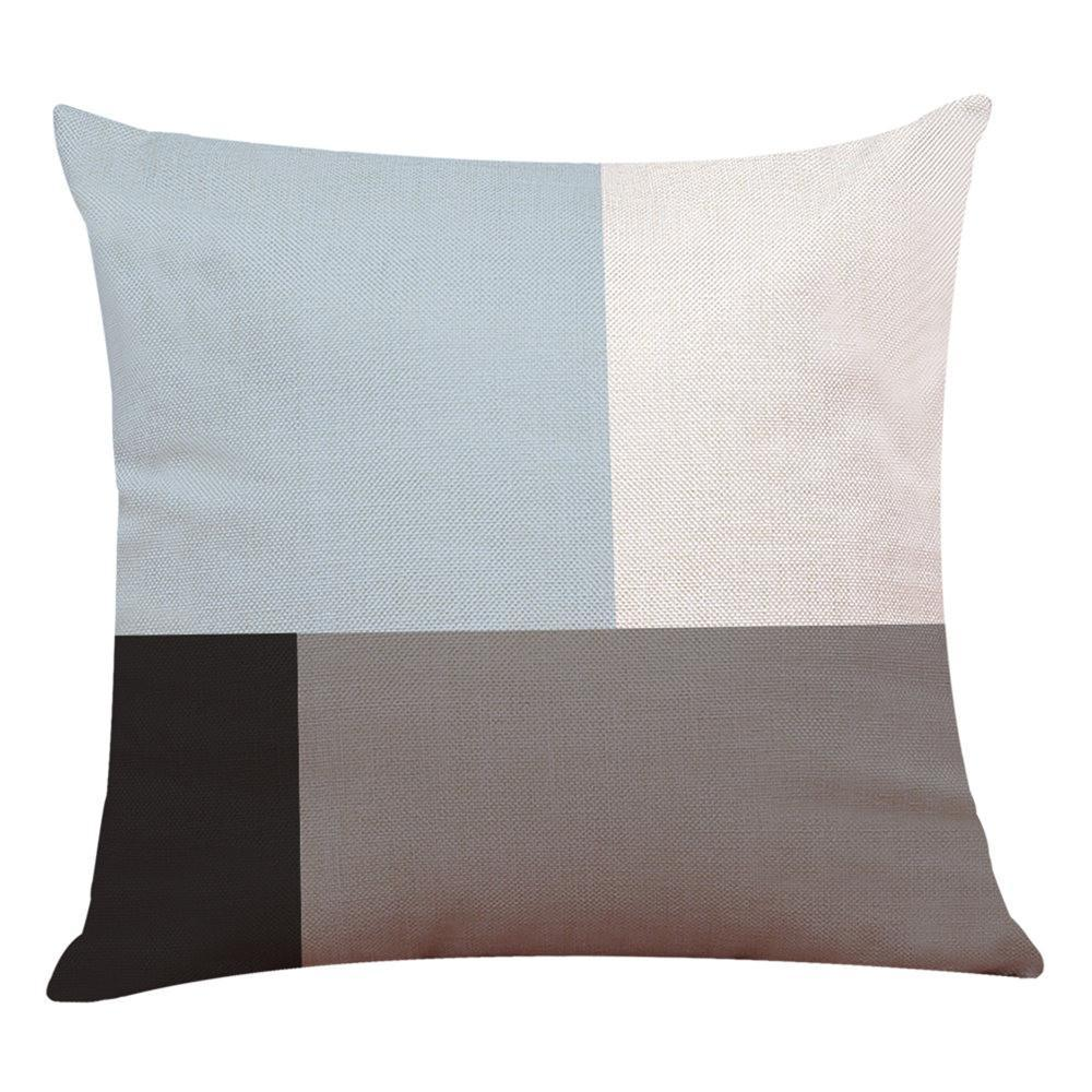 Home Decor Cushion Cover Simple Geometric Throw Pillowcase Pillow Covers