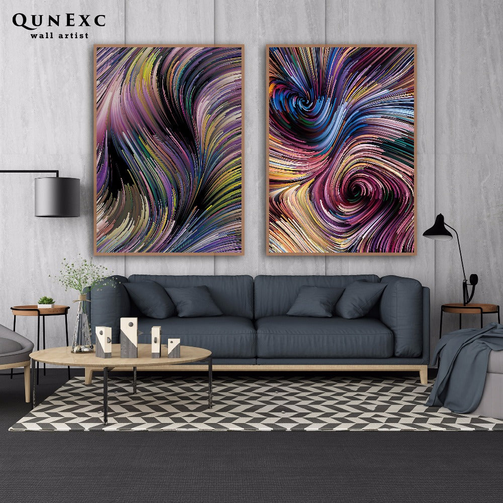 Modern abstract lines wall art canvas NO FRAME