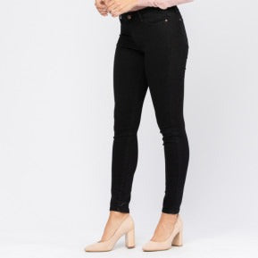 Non Distressed Black Skinny