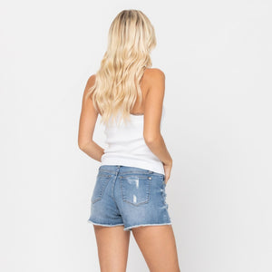 Lemon Patch Destroyed Judy Blue Shorts