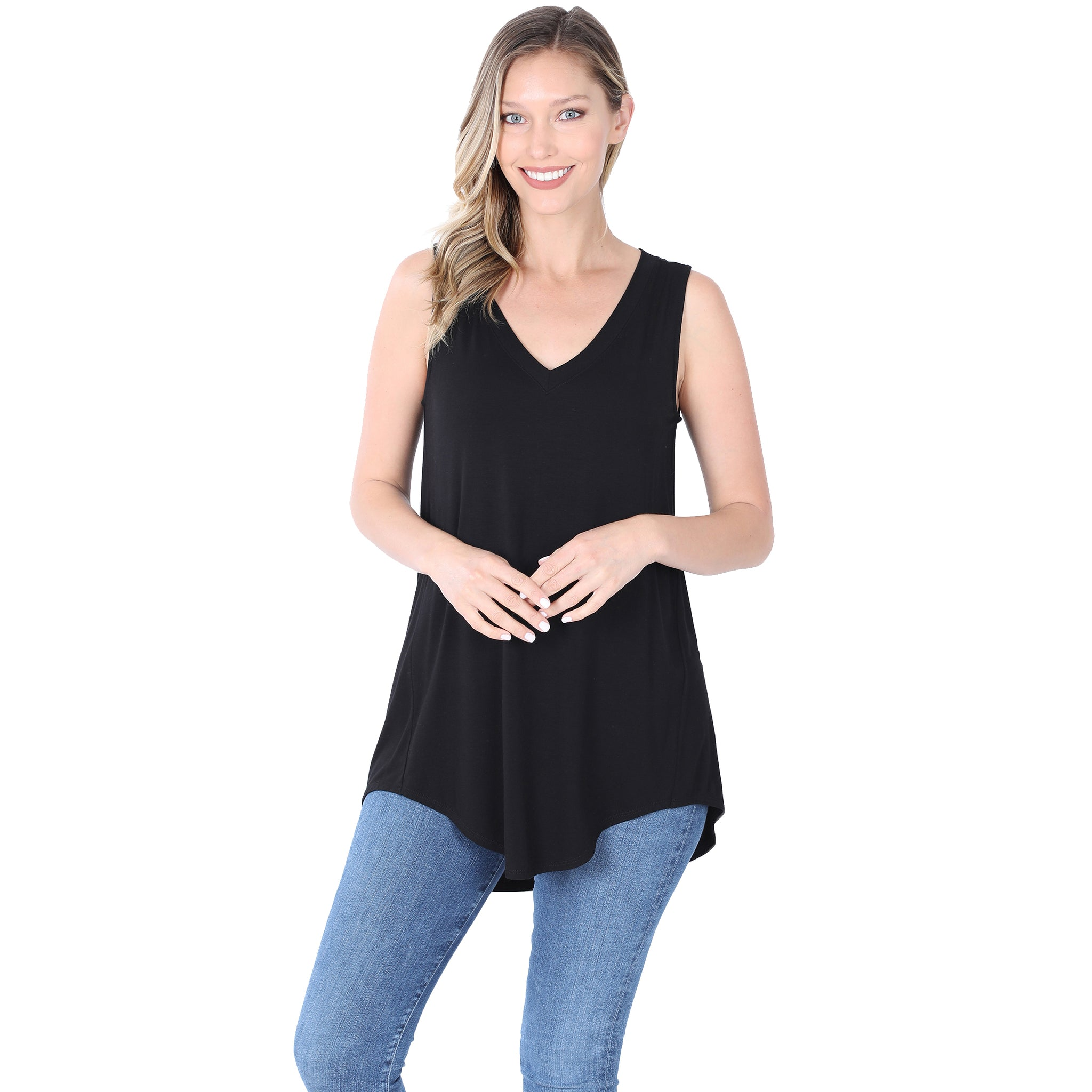 Hi-Low Hem Basic Tank - MORE COLORS