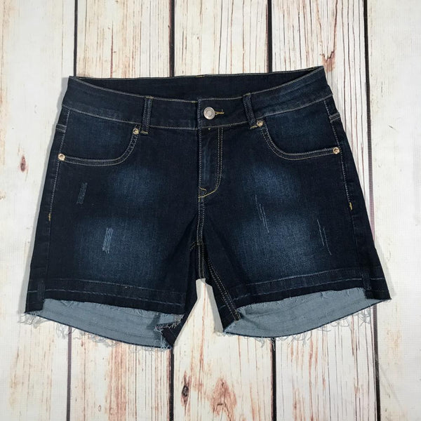 Distressed Ocean Release Hem Denim Shorts
