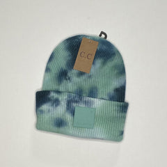 Tie Dye Beanie w/Rubber Patch - MORE COLORS