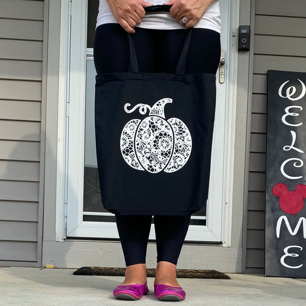 Lace Pumpkin Tote Bag