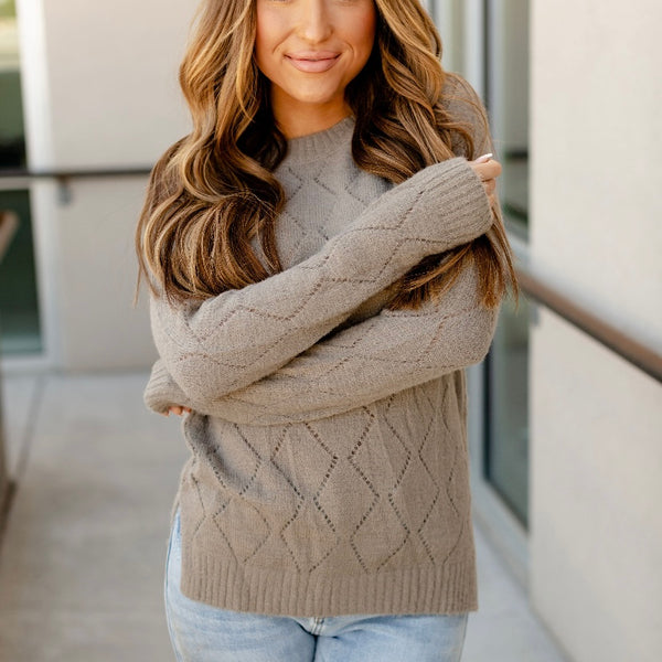 Ampersand Ave Emily Sweater - Grey
