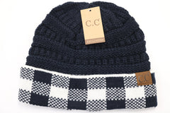 Buffalo Check Knit CC Beanie - MORE COLORS