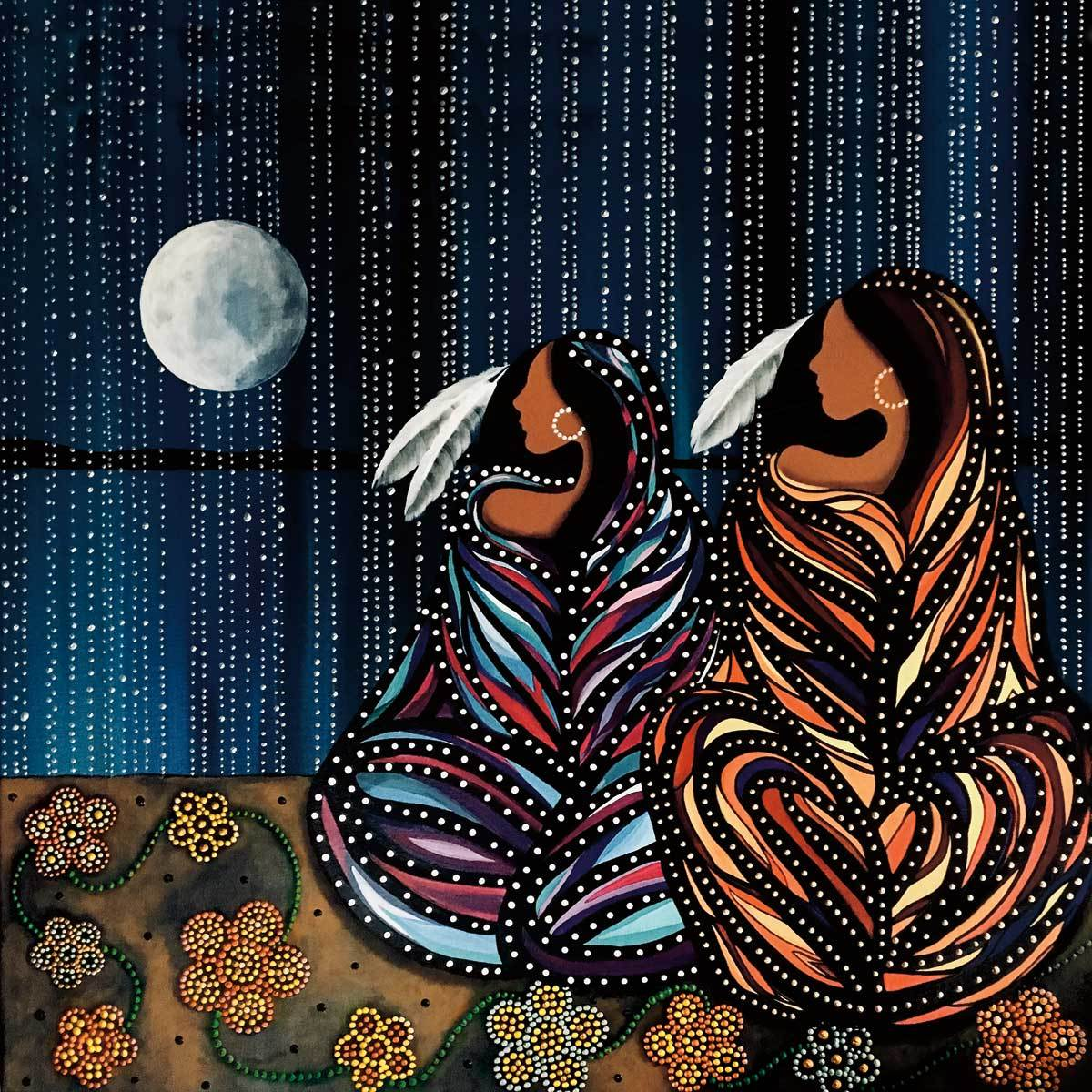 Indigenous artwork by CAP, puzzles, indigenous art, indigenous artist, colourful art, art mugs, art puzzle, wildlife art, wildlife painting, coffee mug, tea mug, best mug, unique gifts, mugs, collectibles