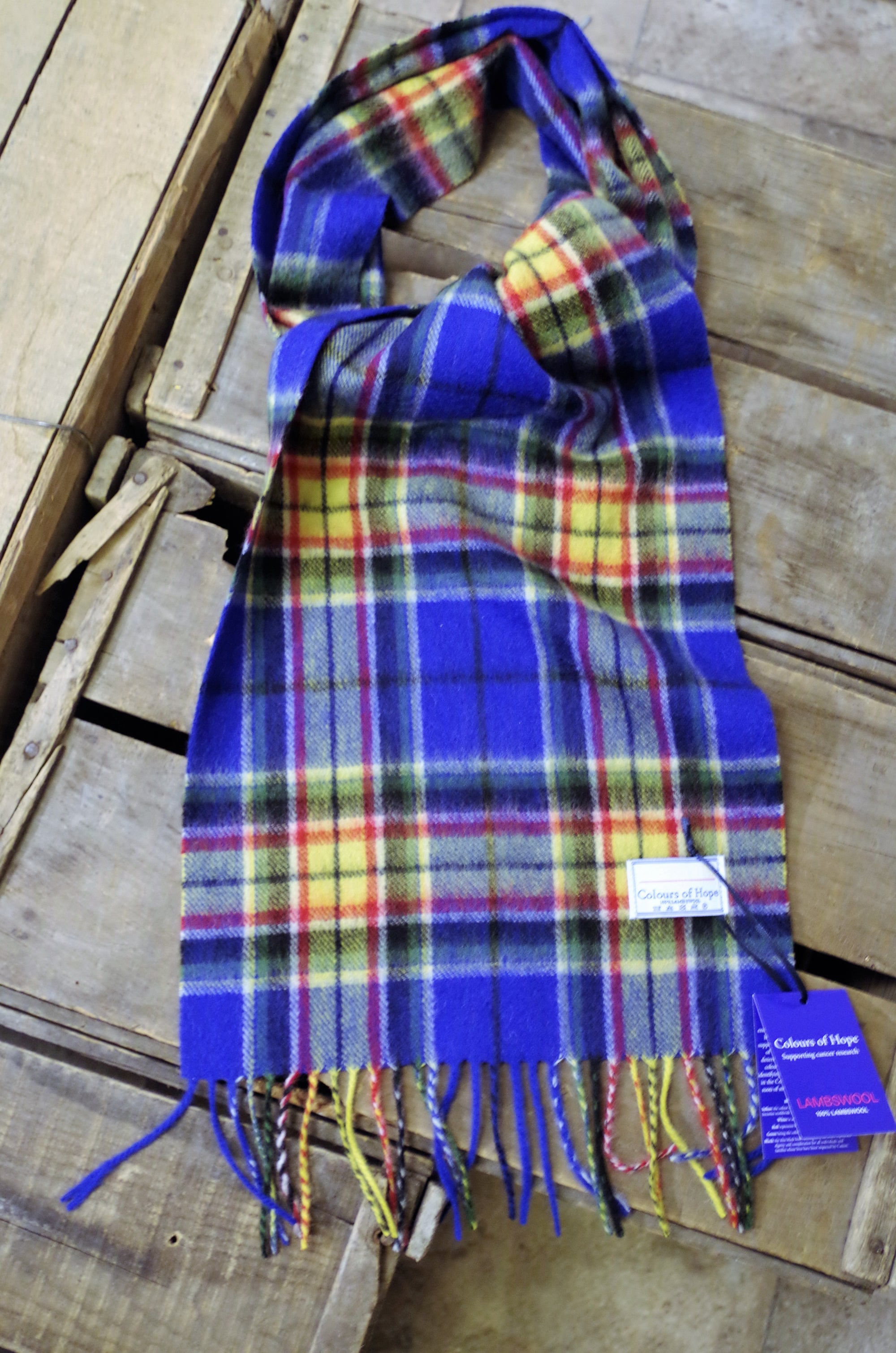 PK-Lambswool Scarf - Colours of Hope