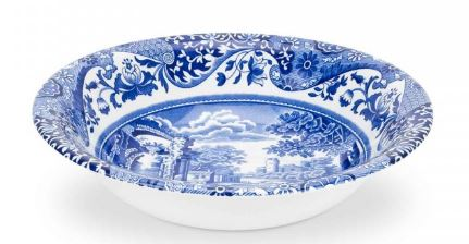 BLUE ITALIAN CEREAL BOWL 6""