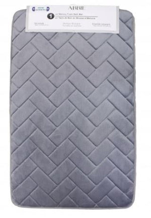 Abbie Single Memory Foam Bath Mat