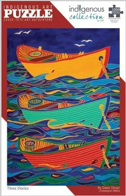 Indigenous Art Puzzle- Three Dories