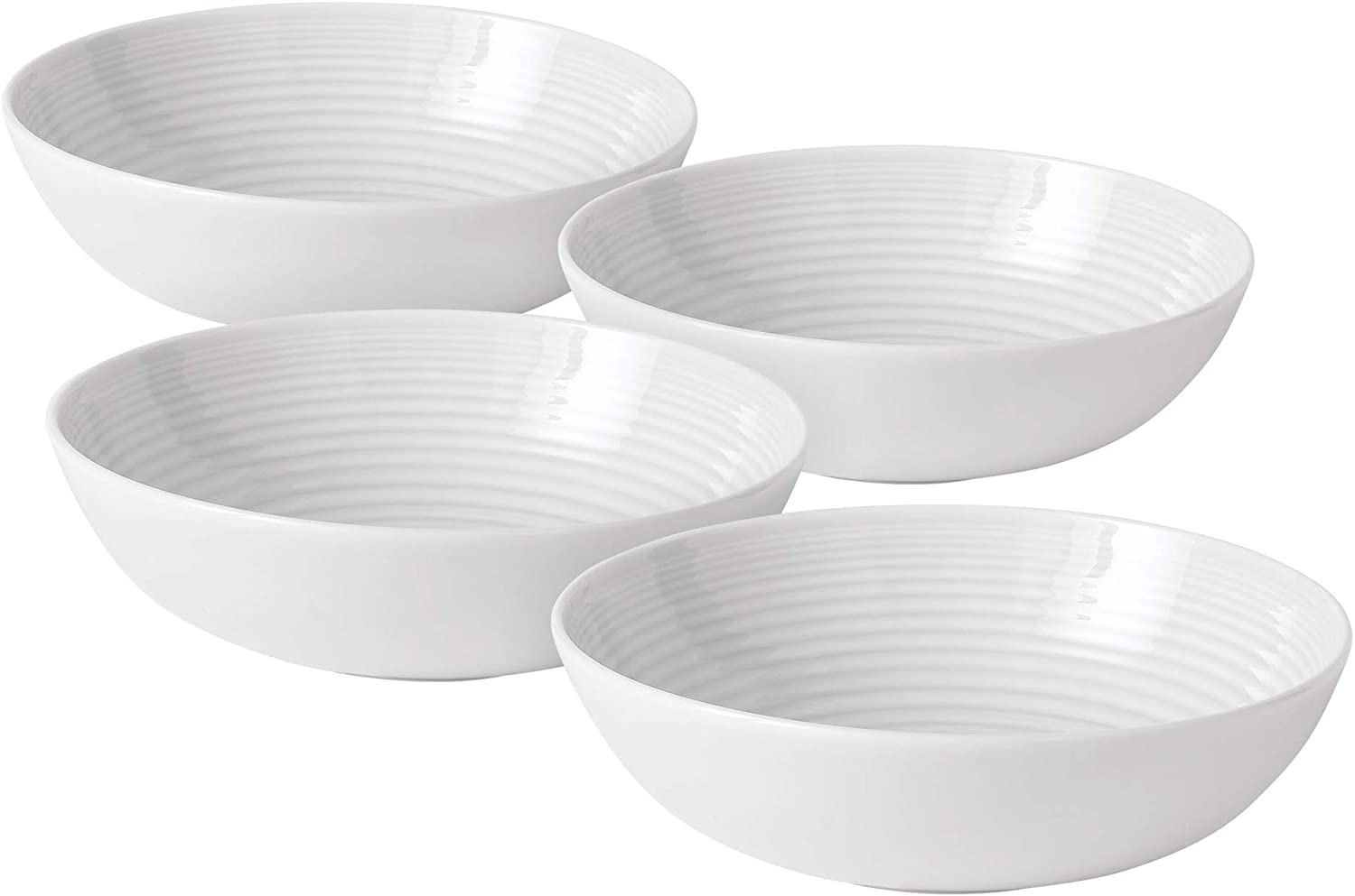 Royal Doulton Ramsay Maze White Set of 4 Pasta Bowls
