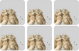 Wrendale Pimpernel Owl Coasters set of 6