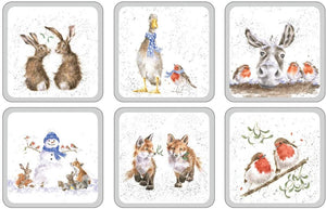 Wrendale Pimpernel Christmas Coasters Set of 6