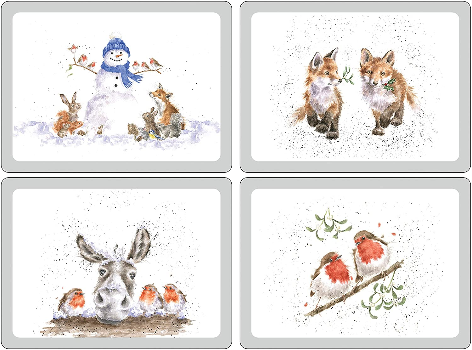Wrendale Pimpernel Christmas Placemats set of 4