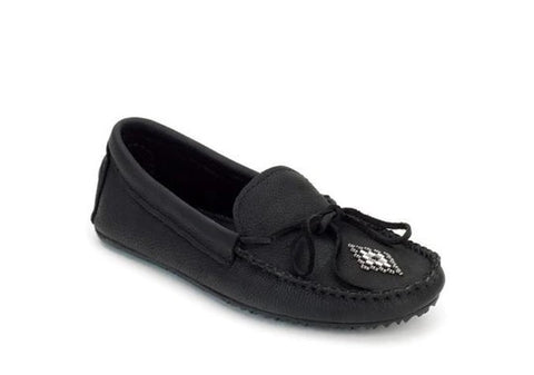 Canoe Moccasin Grain Black