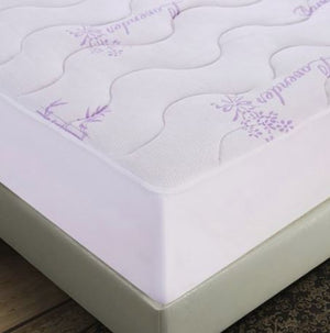 Lavender Bamboo Quilted Mattress Pad Double