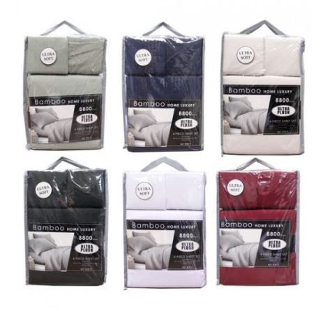 8800 Solid Sheet Set 4 Pieces King