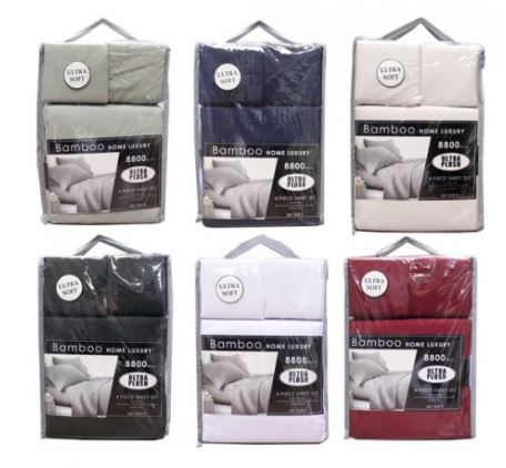 8800 Solid Sheet Set 4 Pieces Double