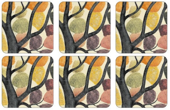 Pimpernel Dancing Branches Coasters set of 6