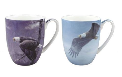 Robert Bateman Eagles Mug Pair $28.50