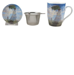 MONET WOMAN WITH A PARASOL TEA MUG