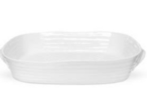 Portmeirion Sophie Conran White Handle Roasting Dish