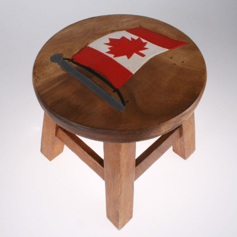 CANADIAN FLAG STOOL