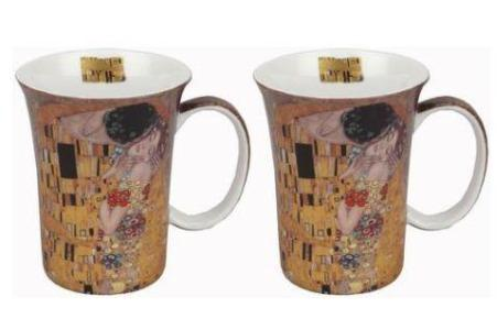 Klimt The Kiss Mug Pair $28.50