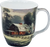 Kinkade Sunset at Riverbend Farm Java Mug