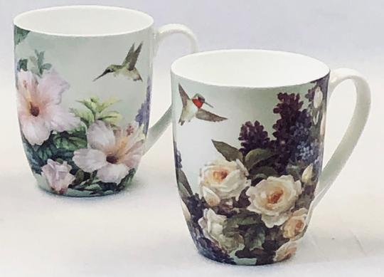 Lena Liu Hummingbirds Mug Pair