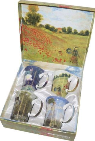 MONET CLASSICS  (SET OF 4 MUGS)