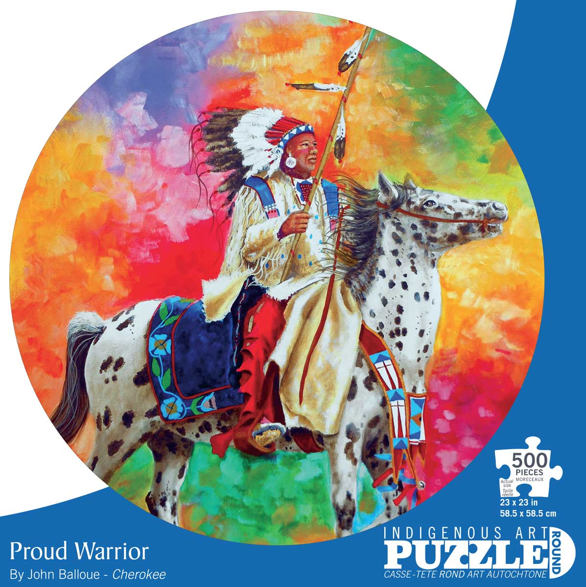 Indigenous Art Puzzle Proud Warrior