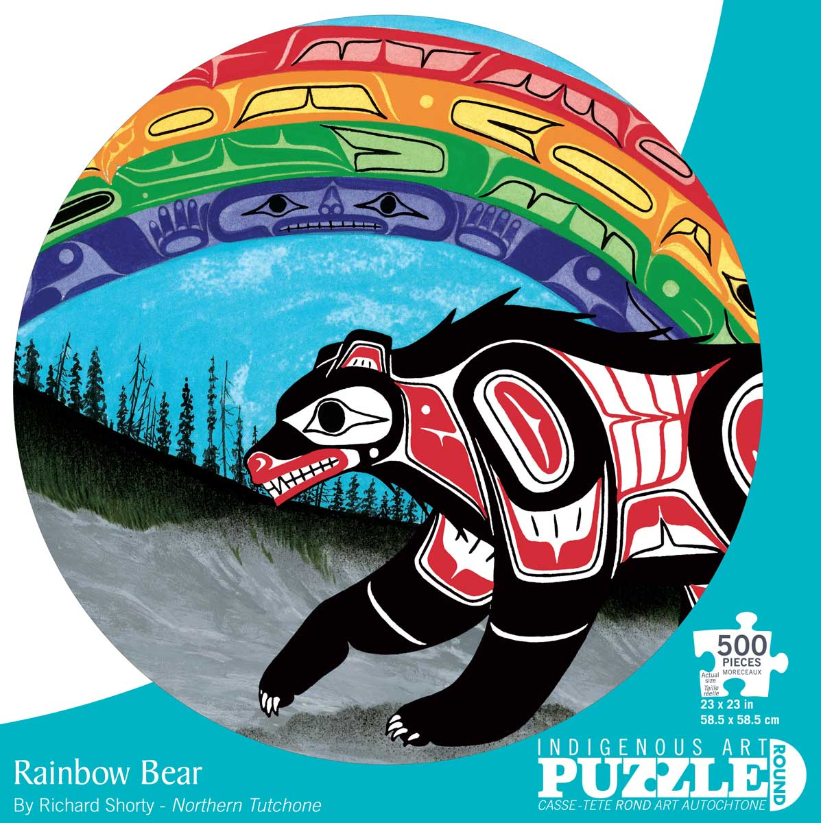 Indigenous Art Puzzle Rainbow Bear