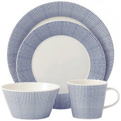 .Royal Doulton Pacific Dots 16 Piece Dinner Set