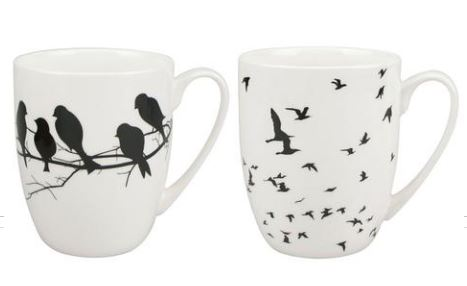 Bird Silhouette Mug Pair 28,50