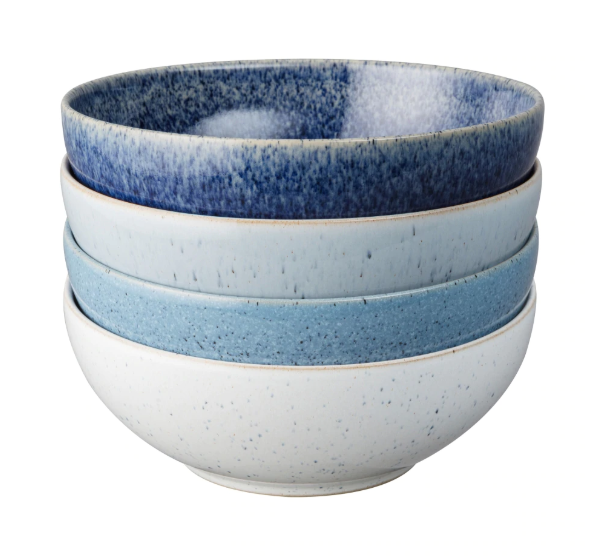Denby Studio Blue Cereal Bowls Set of 4