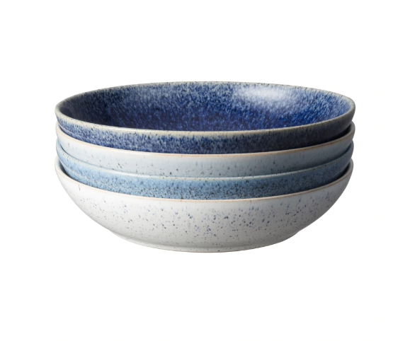 Denby Studio Blue Pasta Bowls Set of 4