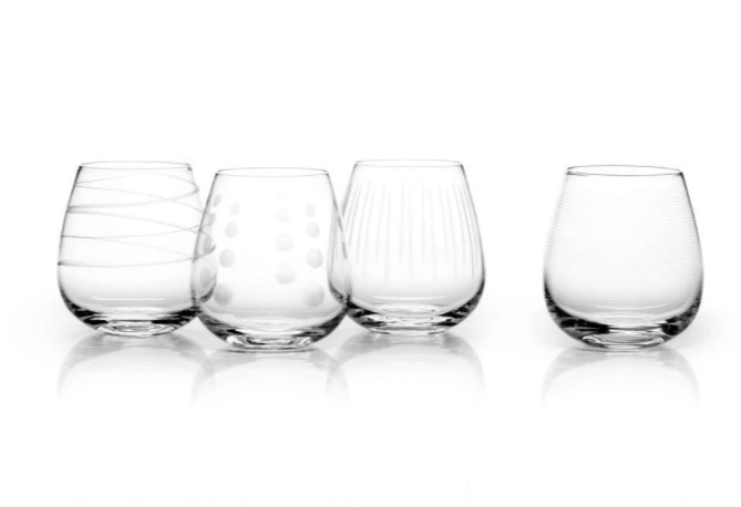 Mikasa Cheers Stemless Wine 14oz 4pc