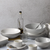 .Gordon Ramsay Maze Light Grey 12 Piece Dinner Set