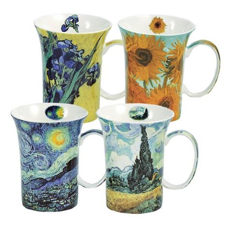 Van Gogh Set of 4 Mugs $49.99