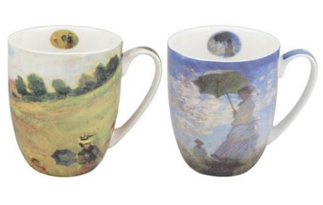 Monet Scenes with Women Mug Pair $28.50