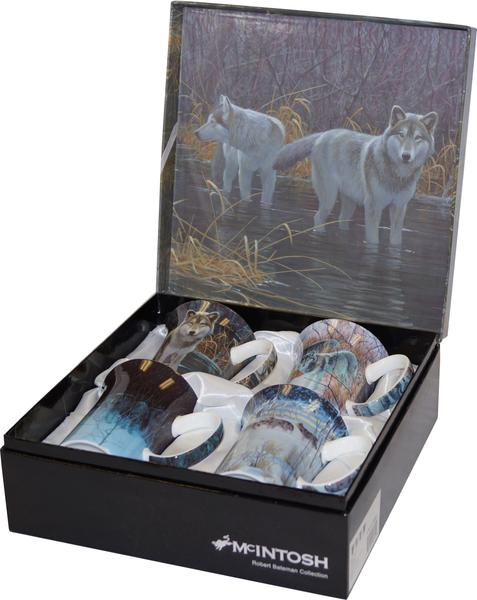 Robert Bateman Wolves Set of 4 Mugs $49.99